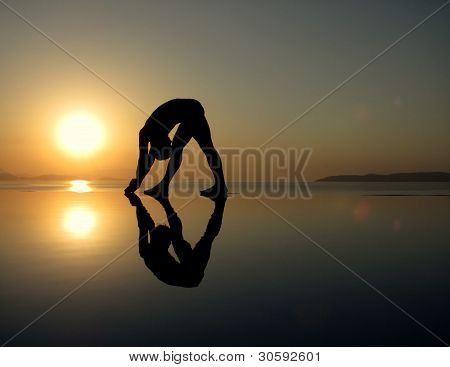 Sun Salutations at the sea