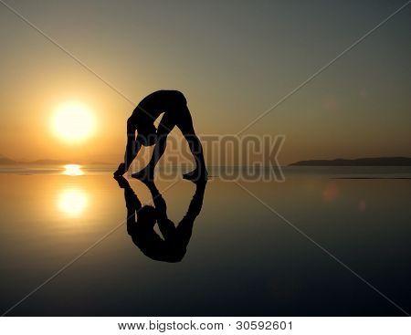 Sun Salutations at the sea