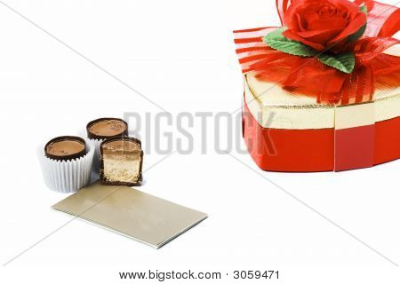 Three Candies With Card