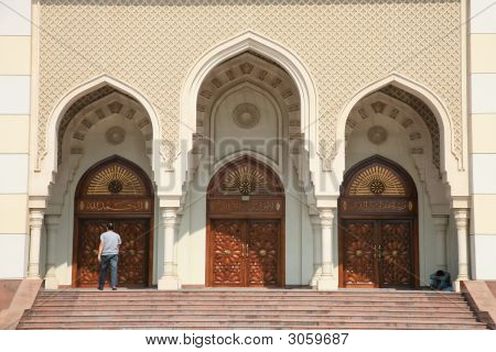 Gate Of Modern Mosque