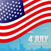 American Independence Day Paper Cut Design. Happy Independence Day United States Of America, 4th Of  poster