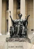 pic of mater  - Statue of Alma Mater at Columbia University New York - JPG