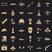 Army Depot Icons Set. Simple Set Of 36 Army Depot Vector Icons For Web For Any Design poster