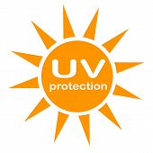Uv Protection Logo And Icon On White Background. Flat Style. Uv Radiation Icon For Your Web Site Des poster