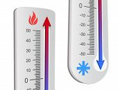 stock photo of high fever  - Thermometer concepts  - JPG