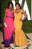 LOS ANGELES - FEB 26:  Venus Williams; Serena Williams arrive at the 2012 Vanity Fair Oscar Party  a