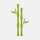 Green Bamboo Stems Icon. Cartoon Illustration Of Green Bamboo Stems Vector Icon For Web Design poster