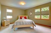 Large And Bright Guest Bedroom With Lots Of Windows.