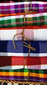 pic of loincloth  - Close up of colorful Thai Loincloth Pattern - JPG