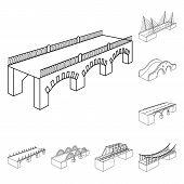 Vector Design Of Landmark And Structure  Logo. Set Of Landmark And Crossing Stock Vector Illustratio poster