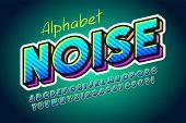 Colorful 3d Display Font Design, Alphabet, Letters poster