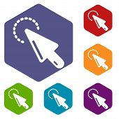 Cursor Clean Icon. Simple Illustration Of Cursor Clean Vector Icon For Web poster
