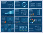 White And Colors Elements Of Infographics For Presentations Templates. Business Presentation Slides  poster