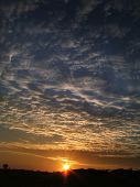 foto of early morning  - sunrise produces a dynmic sky - JPG