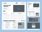Landing Page Template. Website Layout Design Elements Footer Header Menu Navigation Wireframe For In poster