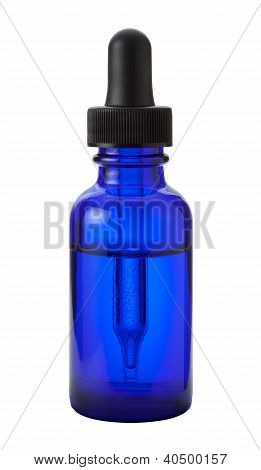 Eye Dropper Bottle Isolated On White