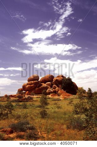 Devils Marbles  Boulders In Pile