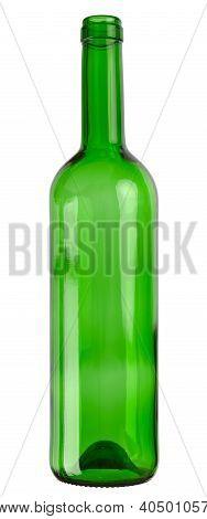 Empty wine glass bottle