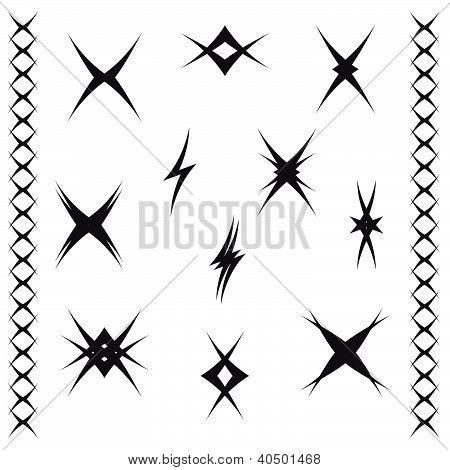 Patterns of ornament tattoo