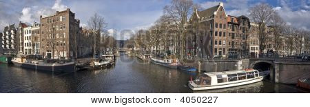 Cityscenic from the city Amsterdam in the Netherlands