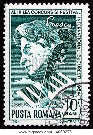 Postage stamp Romania 1964 George Enescu, Composer