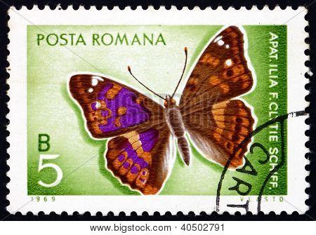 Briefmarke Rumänien 1969 Kleiner Schillerfalter, Schmetterling