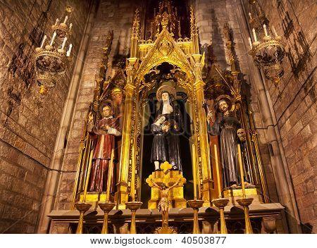 Saints Joaquima Francis Assisi Claret St Mary Pine Tree Barcelona