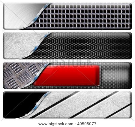 Four Horizontal Metal Headers