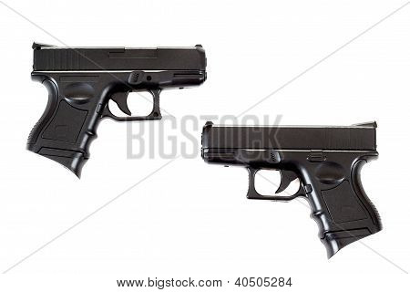 Two Black Airsoft Guns