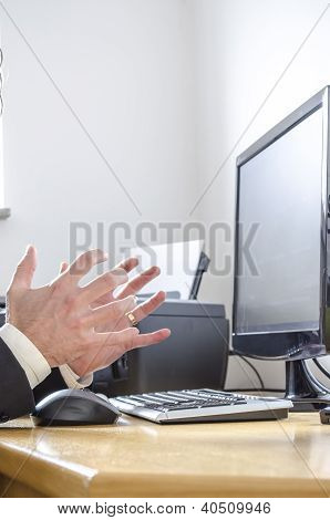 Man Making Angry Gesture