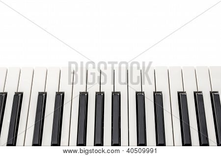 Top View Of Piano Keyboard