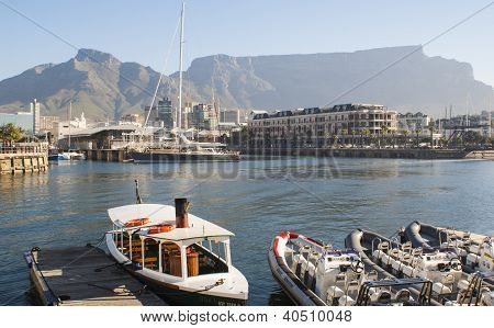 Victoria and Alfred Waterfront with Table Mountain in background