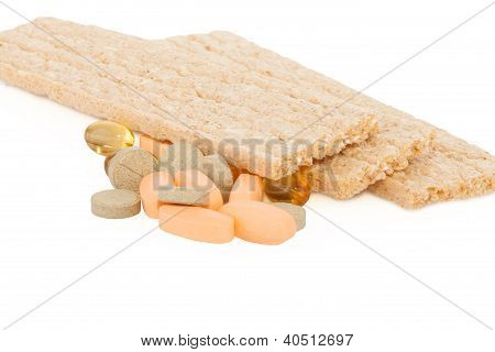 tasty crispbread and tablets