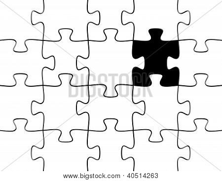 3D Render Of A Puzzle With A Missing Piece