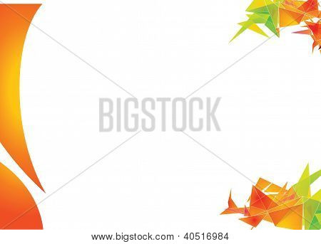 Background with triangular shapes (landscape)