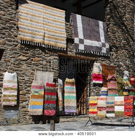 Traditional handmade rugs, Bubion, Andalusia, Spain.