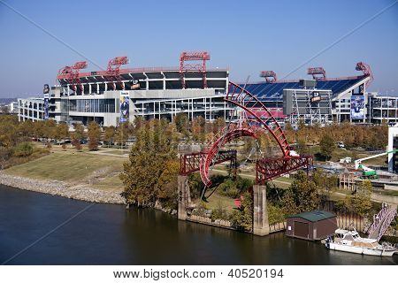 Lp Field In Downtown Of Nashville