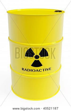 Barrel With Radioactive Materials