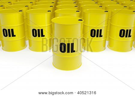 Yellow Oil Barrels