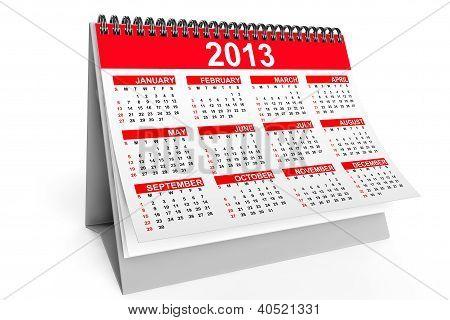 Desktop Calendar For 2013