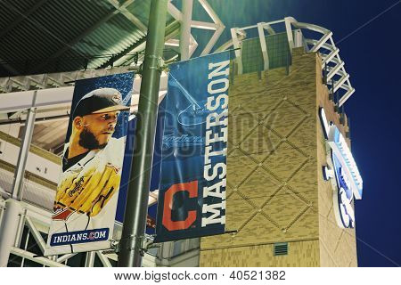 Banner With Justin Masterson