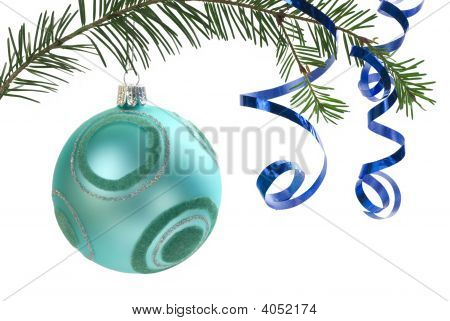 Christmas Ornament On White