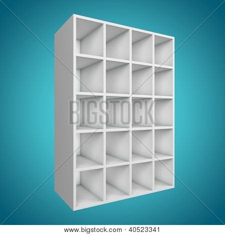 3D Bookshelf Different Angle