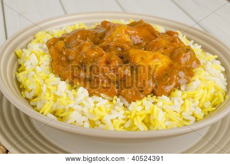 Chicken Bhuna & Bicolour Pilau Rice