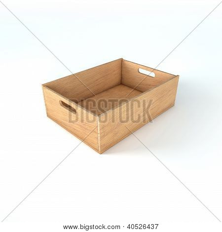 Wooden Crate Box For Food, Fruits And Vegetables