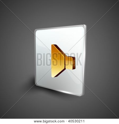 Glossy 3D web 2.0 sound symbol icon set. EPS 10.