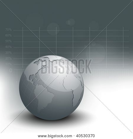 Professional Corporate or Business template for financial presentations showing globe . EPS 10.