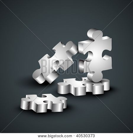 Abstract business puzzle background. EPS 10.