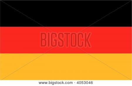 Bandeira nacional da Alemanha. Ilustração em fundo branco