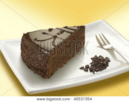 sacher torte slice